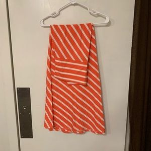 Mossimo coral and white maxi skirt